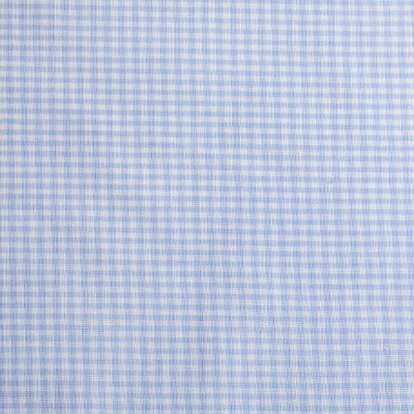 5x5 mm Tern, lyseblå/hvid - Bomuld -