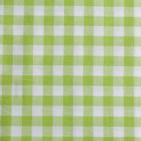 10x10 mm Tern, lime/hvid - Bomuld -
