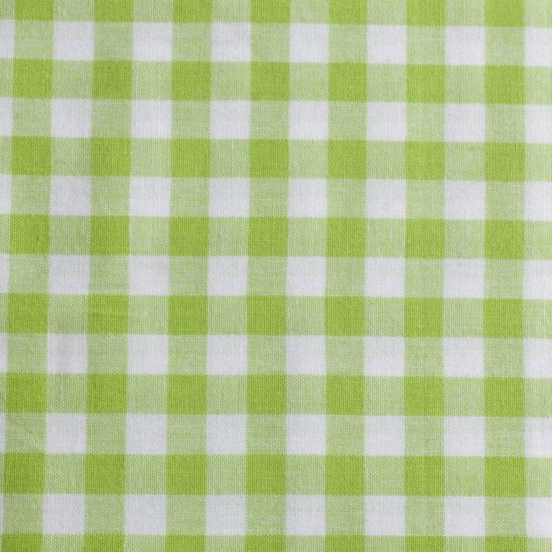 20x20 mm Tern, lime/hvid - Bomuld - Info mangler
