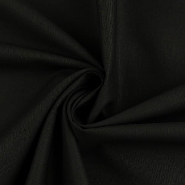 Sort - Lagenlærred (148 cm bred) -