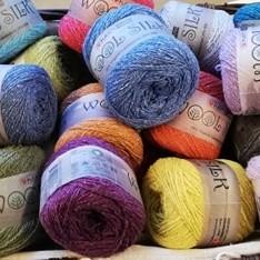 Wool Silk fra Hjertegarn - Gots Certificeret -