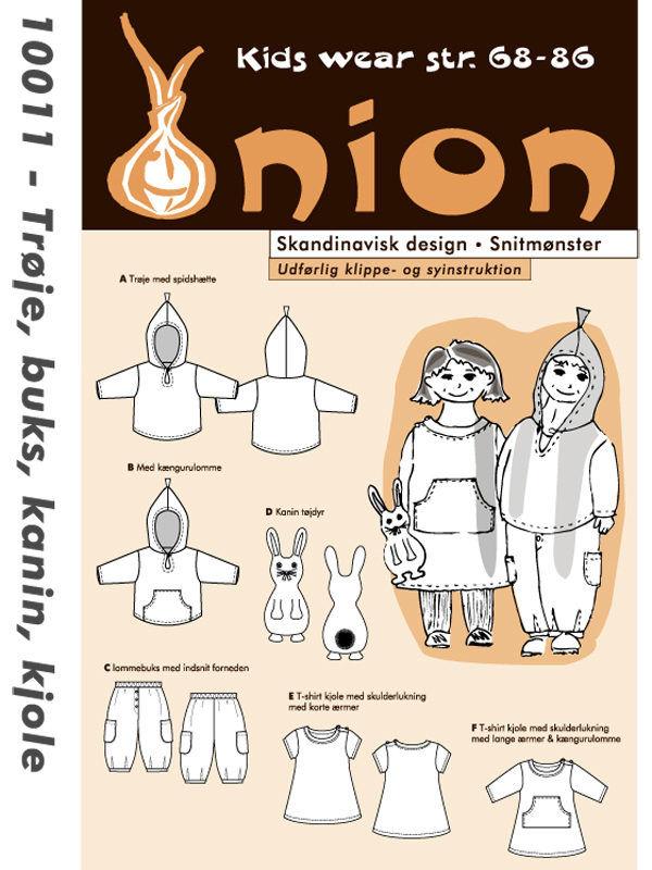 Trøje, buks, kanin, kjole, str. 68-86 - Onion kids wear 10011 - Onion