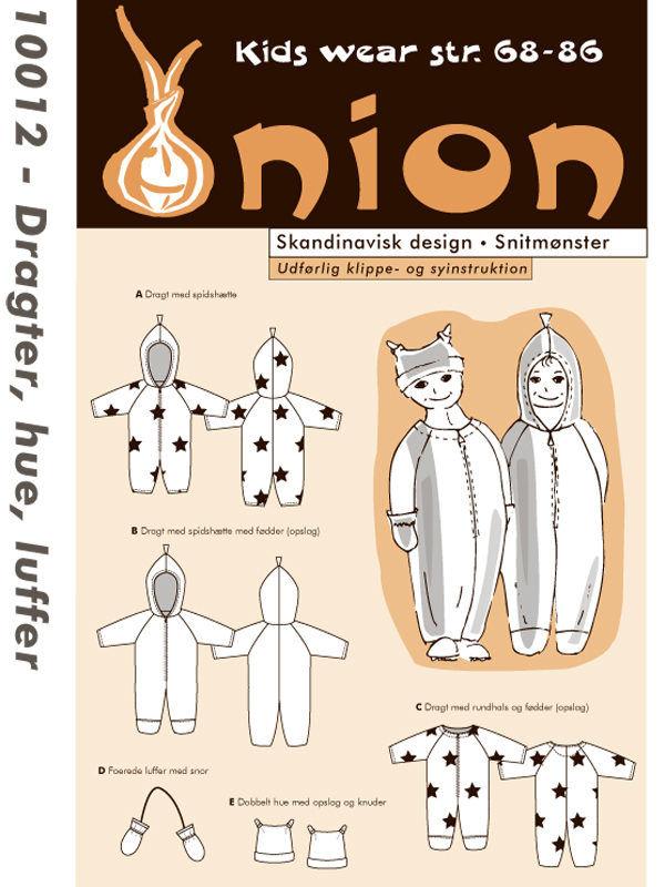 Dragter, hue, luffer, str. 68-86 - Onion kids wear 10012 - Onion