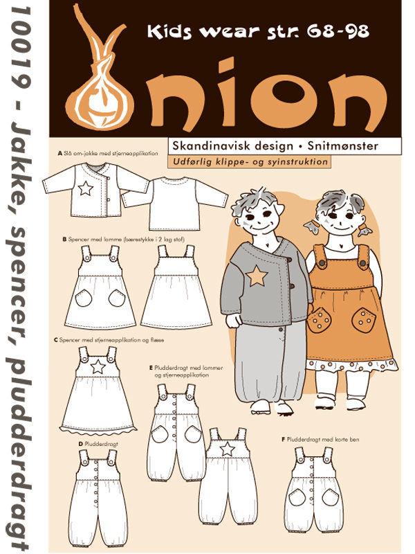 Jakke, spencer, pludderdragt, str. 68-98 - Onion kids wear 10019 - Onion