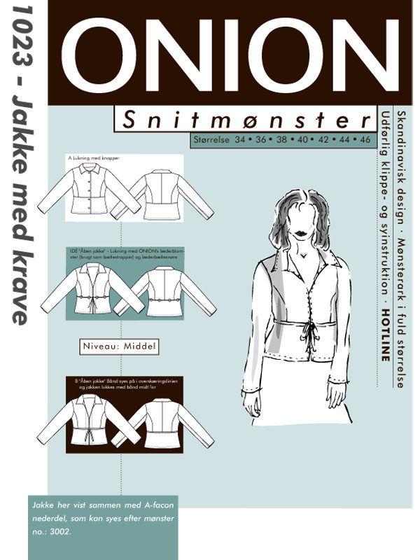 Onion jakke med krave, str. 34-46 - Onion 1023 - Onion