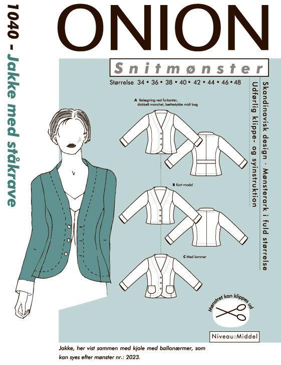Onion jakke med ståkrave, str. 34-48 - Onion 1040 - Onion