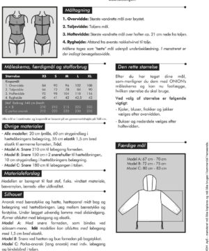 Onion anorak og parka-anorak, str. XS-XL - Onion 1045 - Onion