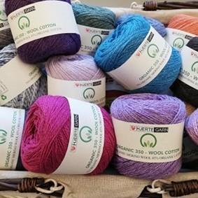 Organic 350 - wool cotton fra Hjertegarn - Gots Certificeret -