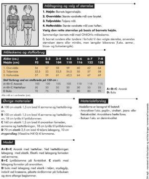 Anorak og buks, str. 92-128 - Onion kids wear 20016 - Onion