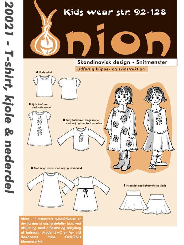 T-shirt, kjole & nederdel, str. 92-128 - Onion kids wear 20021 - Onion