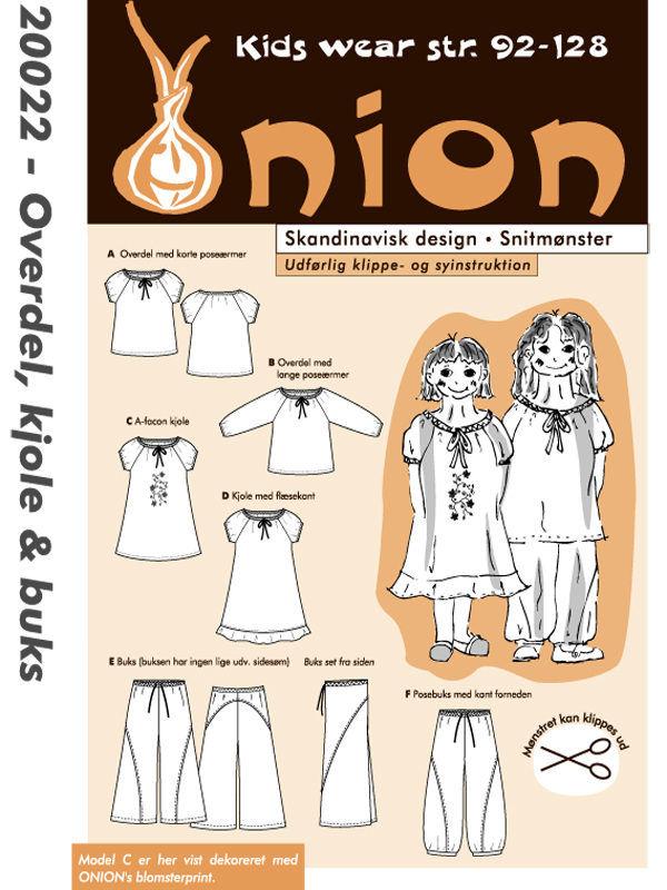 Overdel, kjole & buks, str. 92-128 - Onion kids wear 20022 - Onion