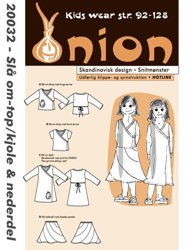Slå om-top/kjole & nederdel, str. 92-128 - Onion kids wear 20032 - Onion
