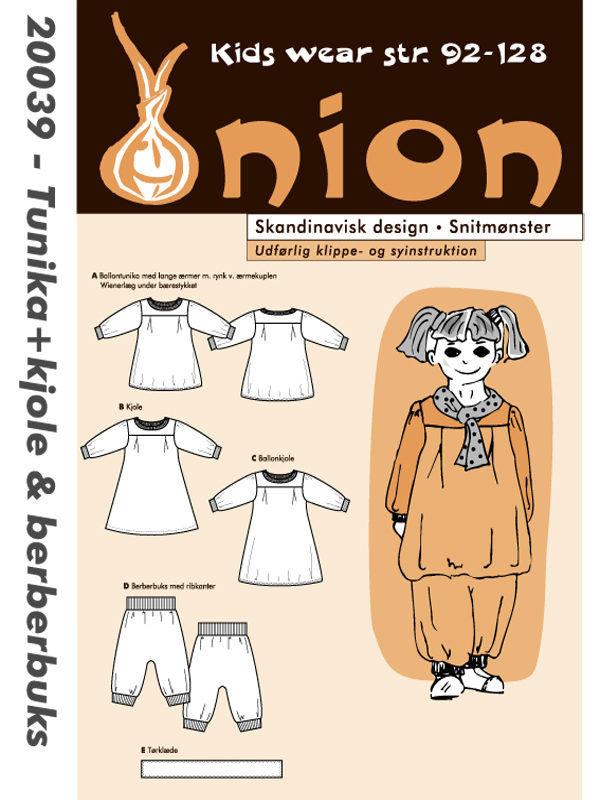Tunika + kjole & berberbuks, str. 92-128 - Onion kids wear 20039 - Onion