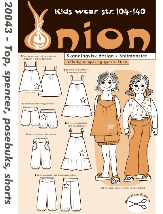 Top, spencer, posebuks, shorts - Onion Kids Wear 20043 - Onion