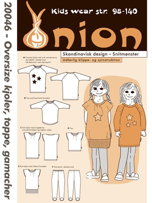Oversize kjoler, toppe, gamacher, str. 98-140 - Onion kids wear 20046 - Onion