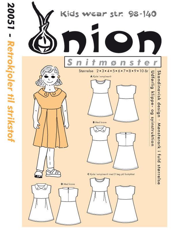 Retrokjoler til strikstof, 98-140 - Onion kids wear 20051 - Onion