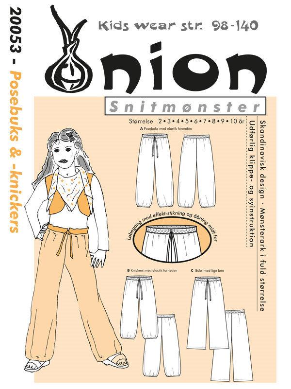 Posebuks & -knickers, str.2-10 år - Onion Kids Wear 20053 - Onion