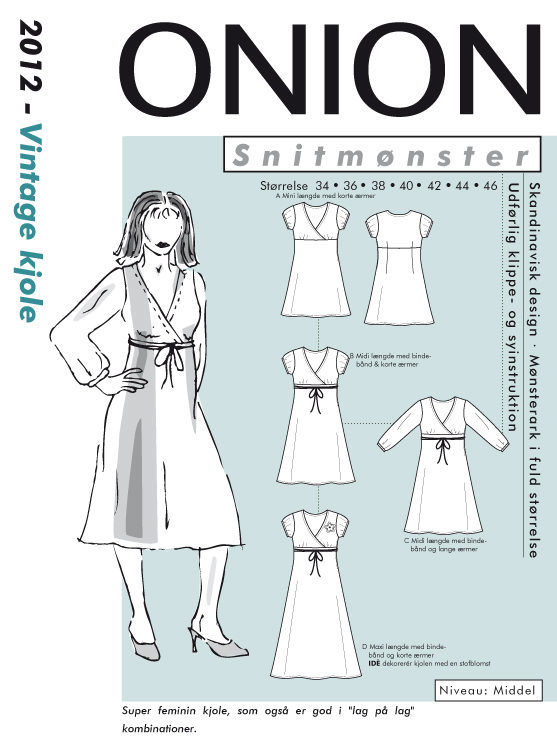 Onion vintage kjole, str. 34-46 - Onion 2012 - Onion