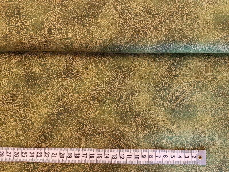 Grøn - guld print -