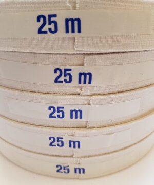 Hvid elastik (25 meter), tilbud -