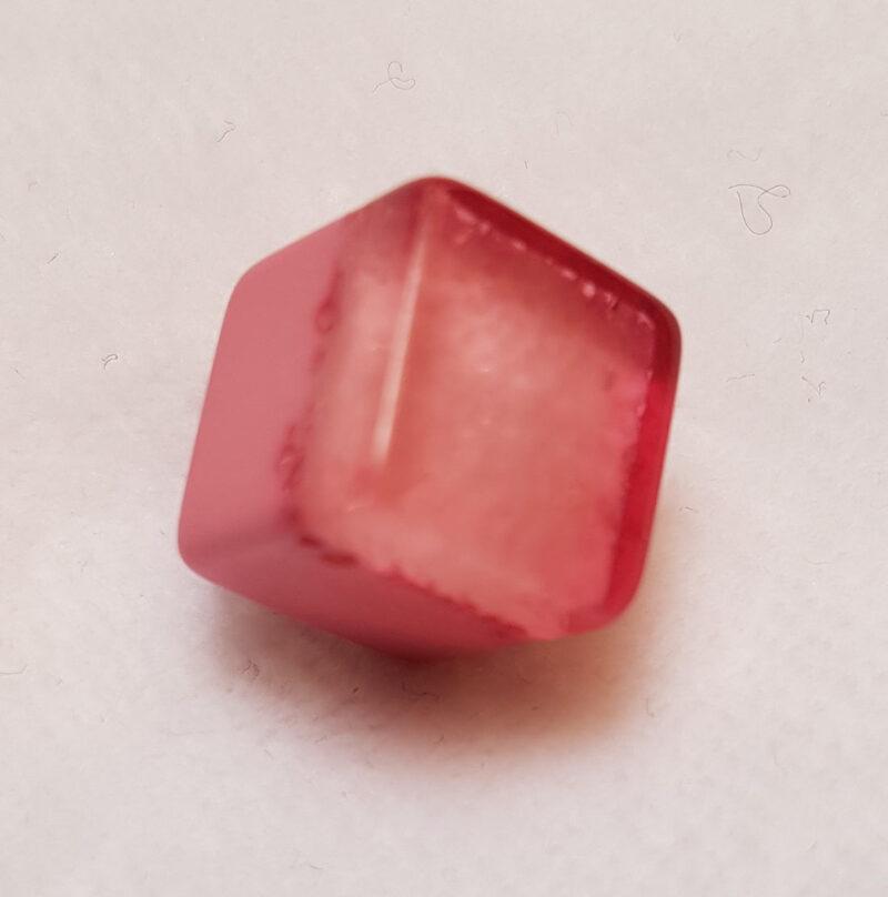 Kube øjeknap lyserød, Ø 10 mm -