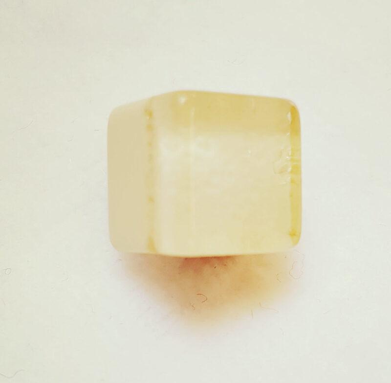 Kube øjeknap creme, Ø 10 mm -