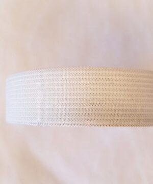 Hvid elastik, 5 meter (flere bredder) -
