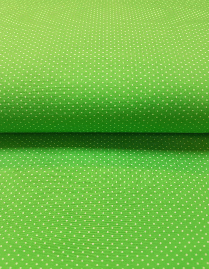 Lime - hvid prik -
