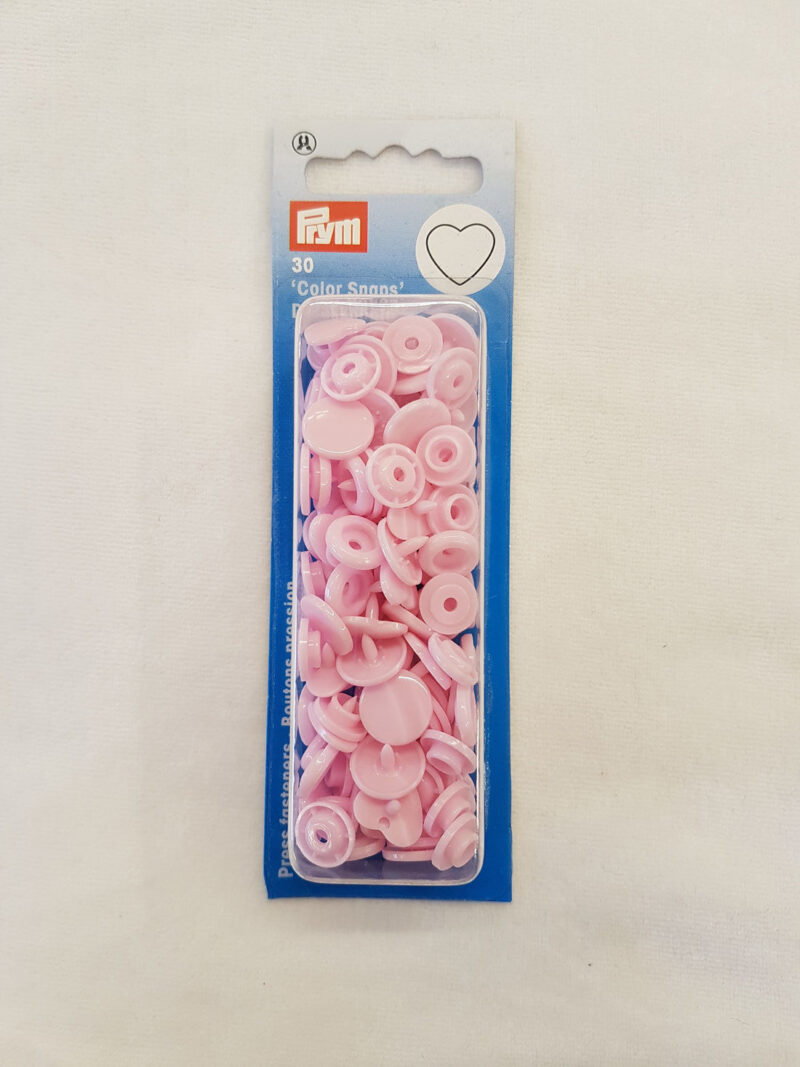 Prym trykknap lyserød m. hjerte, Color Snaps - Prym
