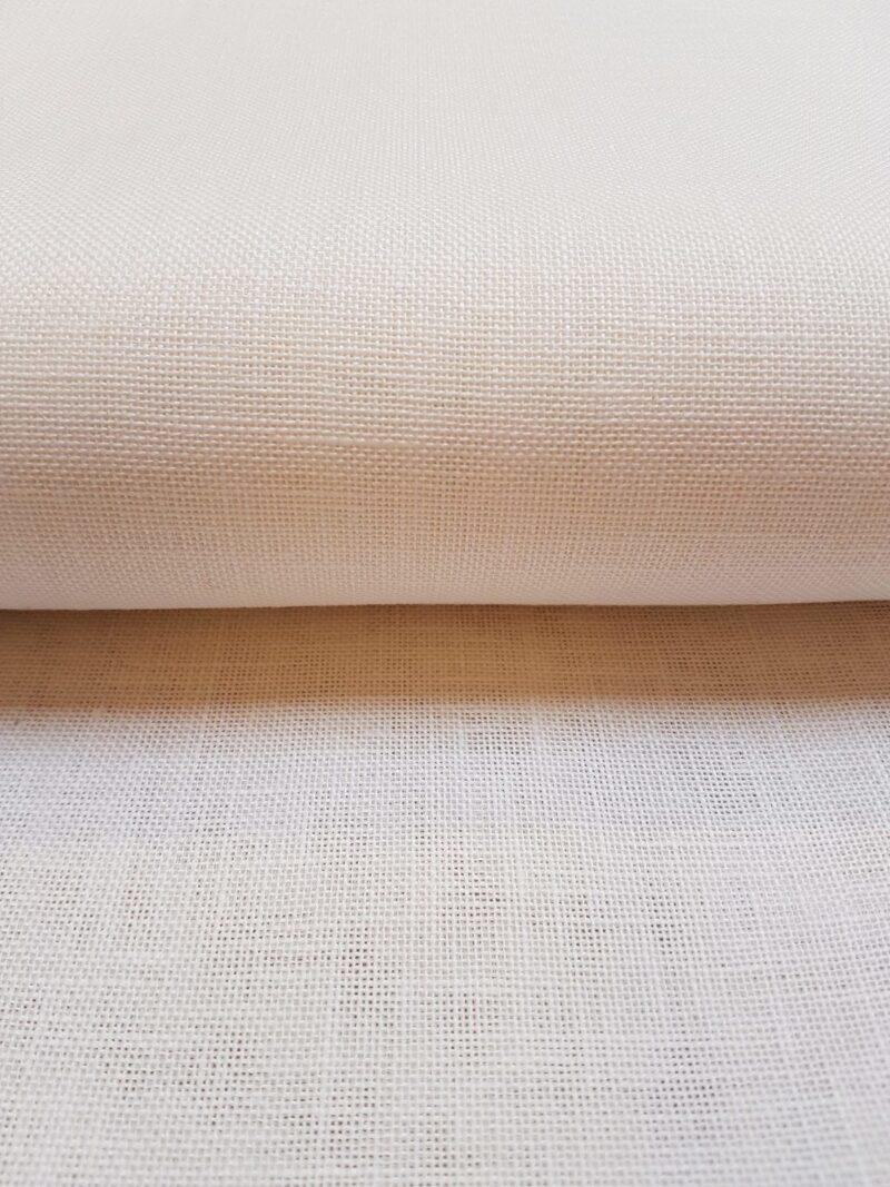 Hørlærred hvid - 10 trådet -