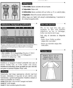 Onion kjole/tunika med indsats, til strik, str. XS-XL - Onion 2026 - Onion