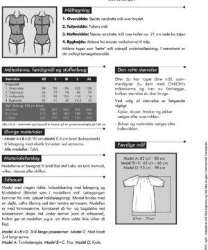 Onion top/tunika/kjole med kimonoærmer, str. XS-XL - Onion 2027 - Onion