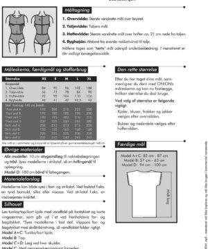 Tunika/top/kjole med vandfald, str. XS-XL - Onion 2050 - Onion