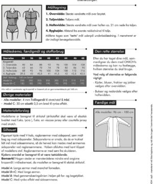 Kjole med V-hals til strikstof, str. 34-48- Onion 2054 - Onion