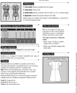 Kjole med skørt til strikstof, str. XS-XL - Onion 2058 - Onion
