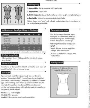 Kjole med drapering til strikstof, str. XS-XL - Onion 2060 - Onion