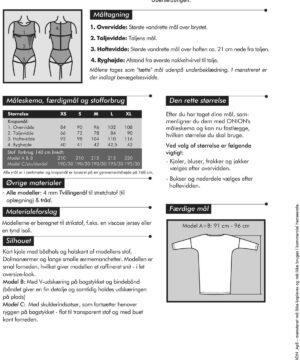 Kort kjole med Dolmaærmer, til strikstof, str. XS-XL - Onion 2061 - Onion