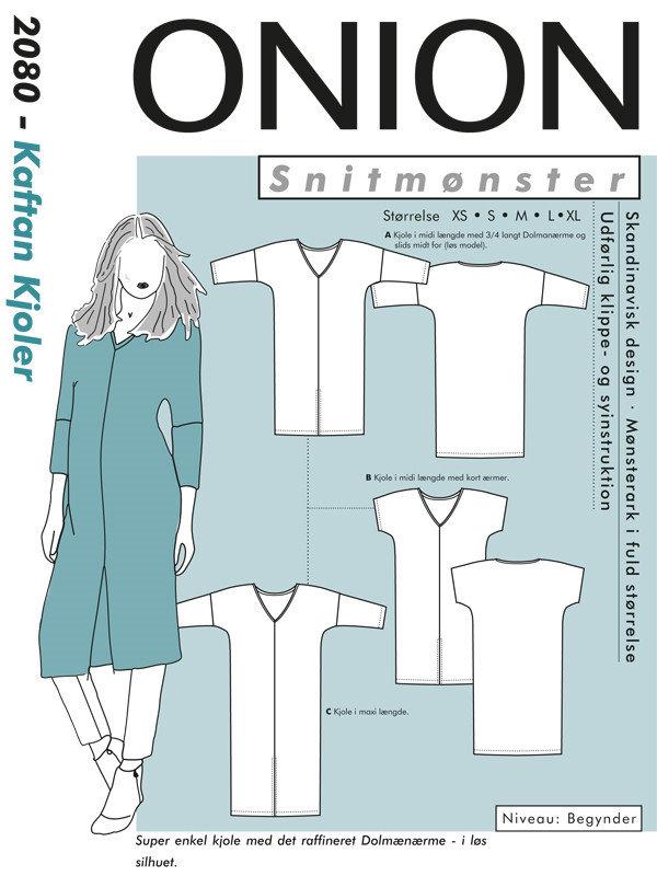 Kaftan kjoler, str.XS-XL - Onion 2080 - Onion