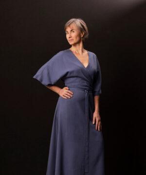 Kimono slå om-kjole, str.XS-XL - Onion 2083 - Onion