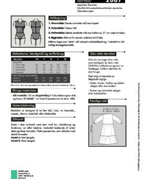 Kjole med flæser, str.XS-XL - Onion 2087 - Onion