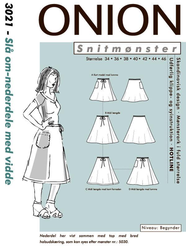 Slå om-nederdele med vidde, str. 34-46 - Onion 3021 - Onion