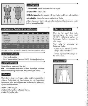 Nederdele med indsatser, str. 34-46 - Onion 3030 - Onion