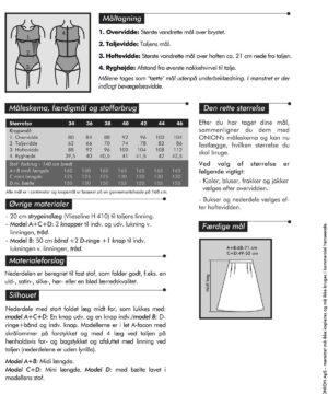 Nederdele med læg detaljer, str. 34-46 - Onion 3032 - Onion