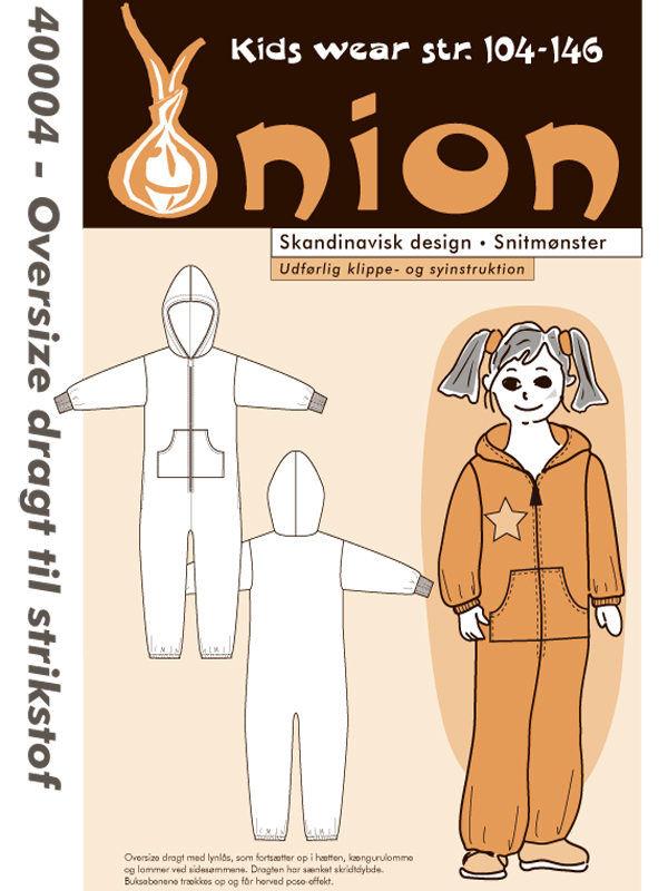 Oversize dragt til strikstof, str. 104-146 - Onion kids wear 40004 - Onion