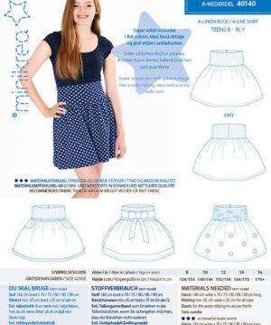 A-nederdel, str. 8-16 år - Minikrea 40140 - Minikrea