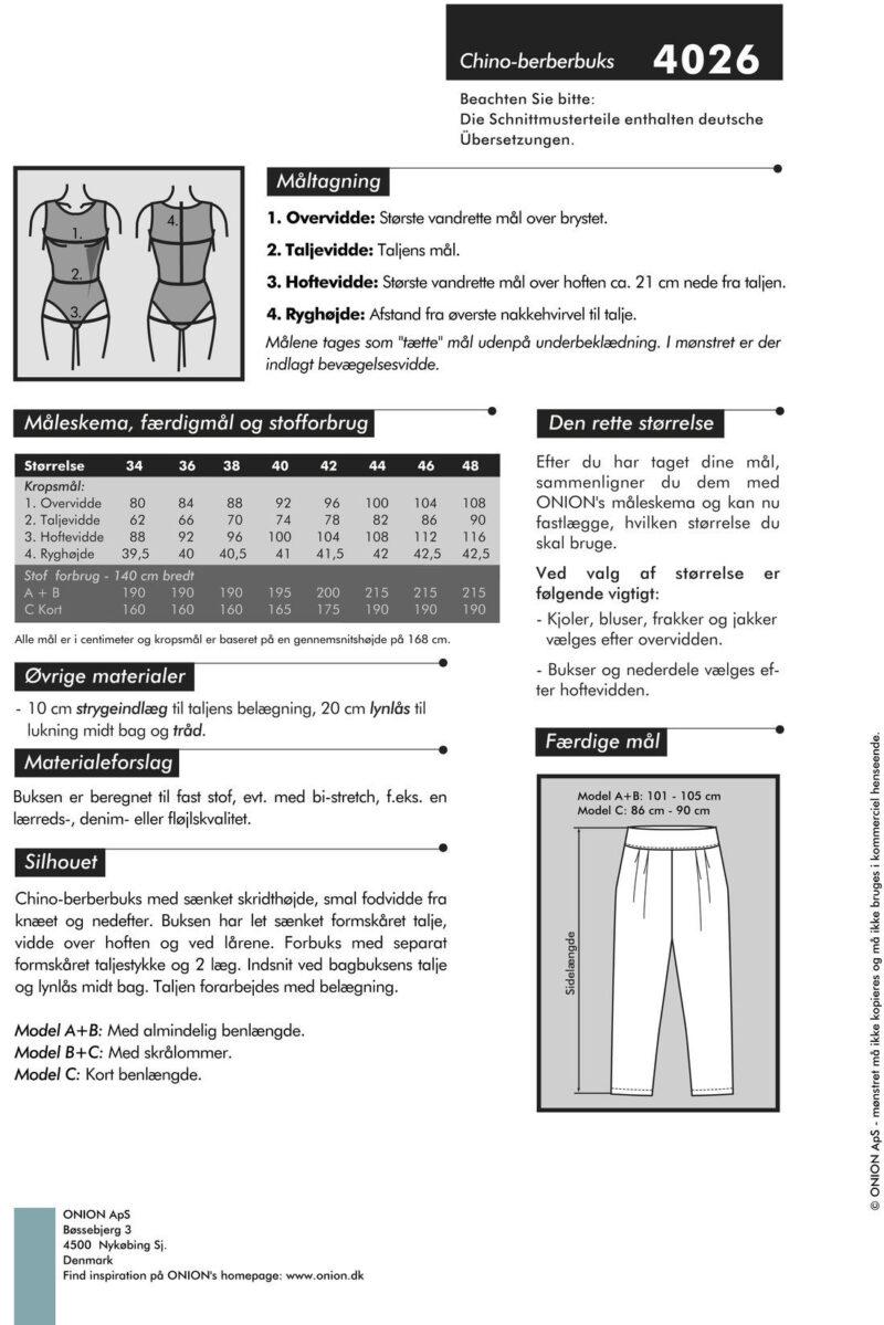 Chino-berberbuks, str. 34-46-Onion 4026 - Onion