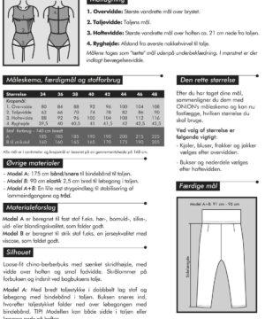 Loose fit chino-berberbuks, str. 34-46 - Onion 4027 - Onion