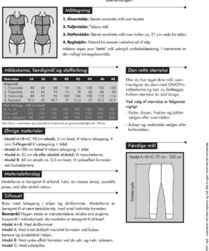 Buks med smal fodvidde, til strikstof, str. 34-48 - Onion 4029 - Onion