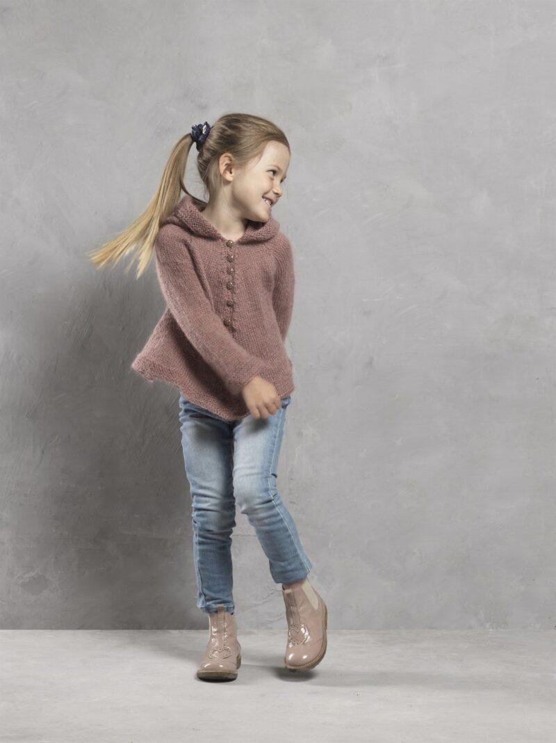 Børnebluse med hætte i Dolce, 4616 -