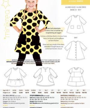 A-kjole, str. 0-10 år - Minikrea 50010 - Minikrea